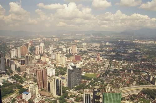 Blick vom Funkturm Menara KL , Kuala Lumpur, Malaysia