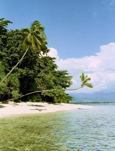 vorgelagerte Insel, Jambak Beach, Padang, Sumatra, Indonesien