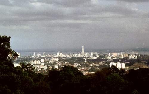 Aussicht von Air Itam auf Penang, Malaysia