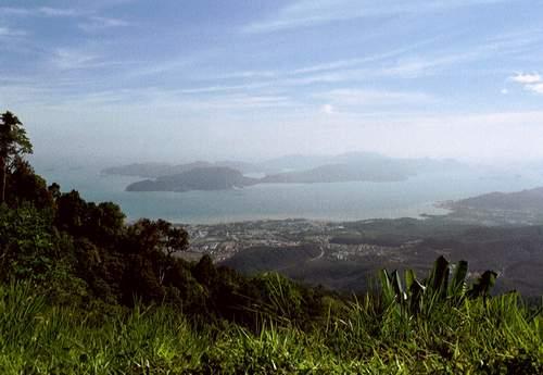 Blick vom Gunung Raya, Langkawi, Malaysia
